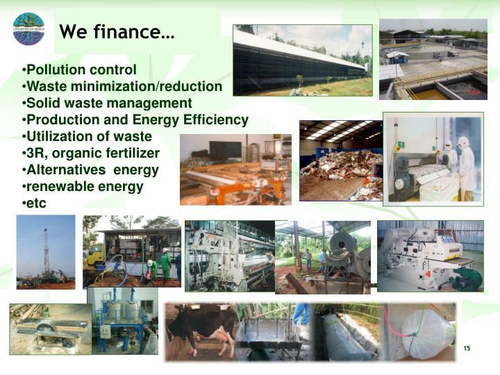 We finance…