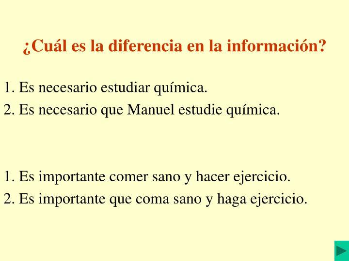 ¿Cuál es la diferencia en la información?