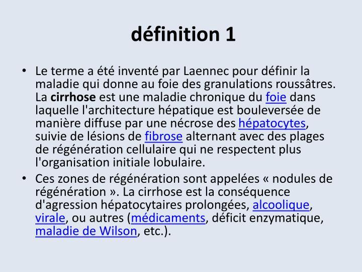 définition 1