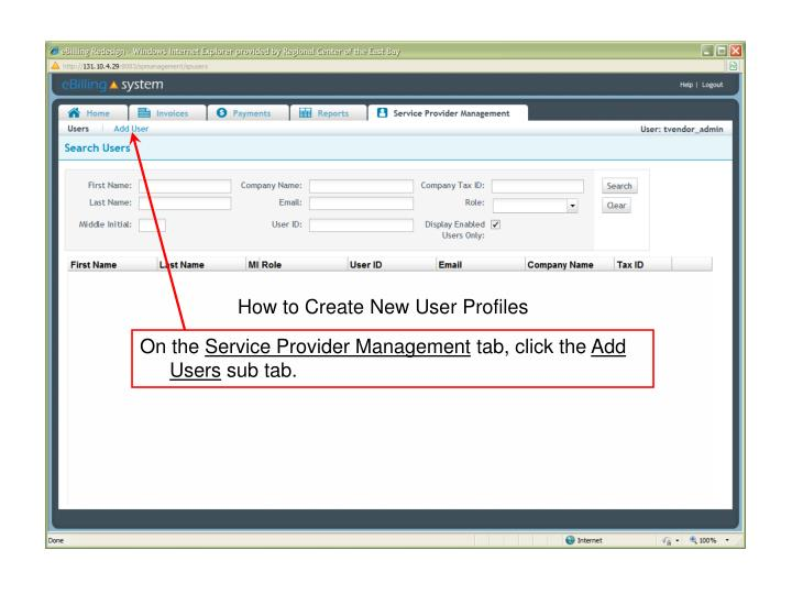 How to Create New User Profiles