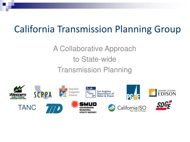 California Transmission Planning Group