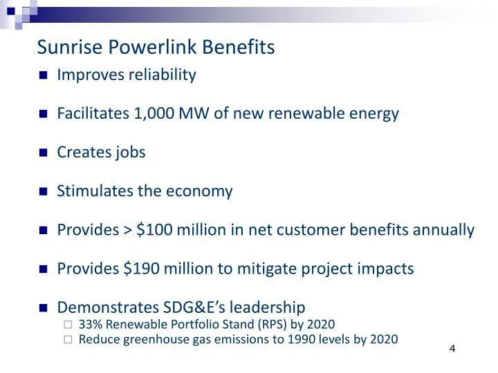Sunrise Powerlink Benefits