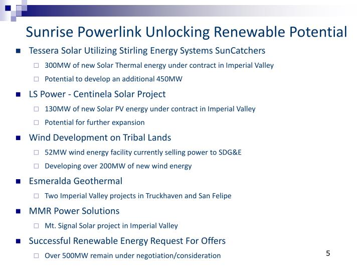 Sunrise Powerlink Unlocking Renewable Potential