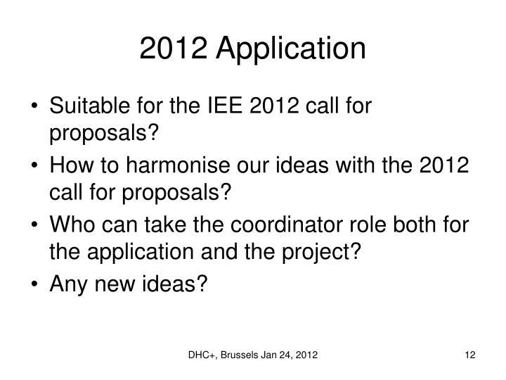 2012 Application