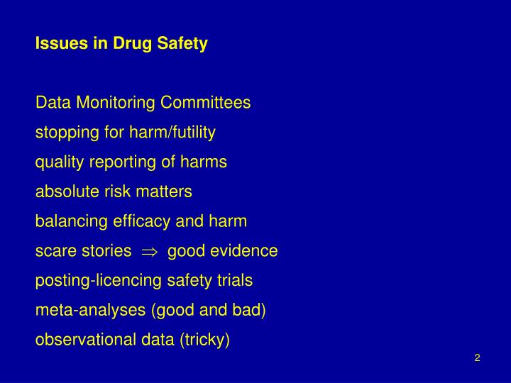 Issues in Drug Safety