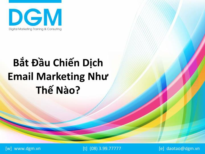 B t u chi n d ch email marketing nh th n o