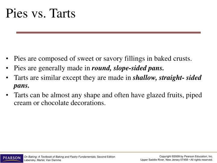 Pies vs tarts