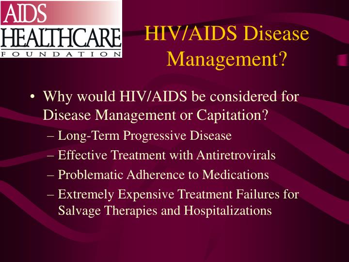 HIV/AIDS Disease Management?