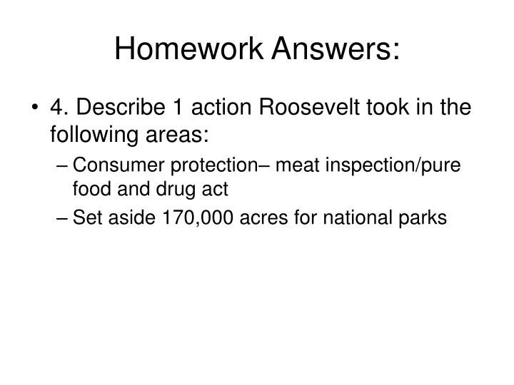 Homework Answers: