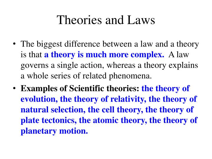 Theories and Laws