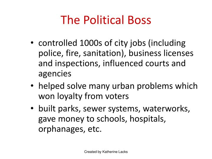 The Political Boss