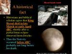 a historical fact