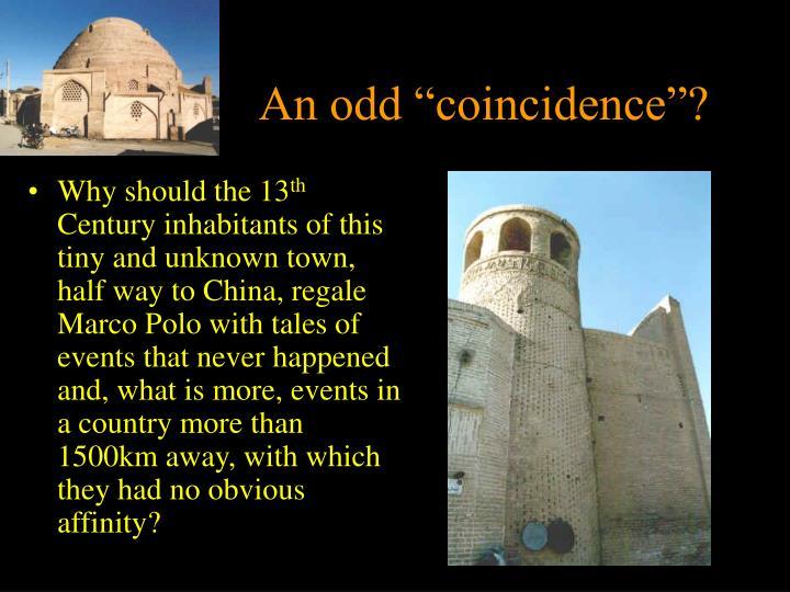 """An odd """"coincidence""""?"""