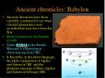 ancient chronicles babylon