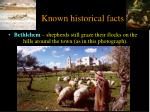 known historical facts