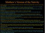 matthew s version of the nativity