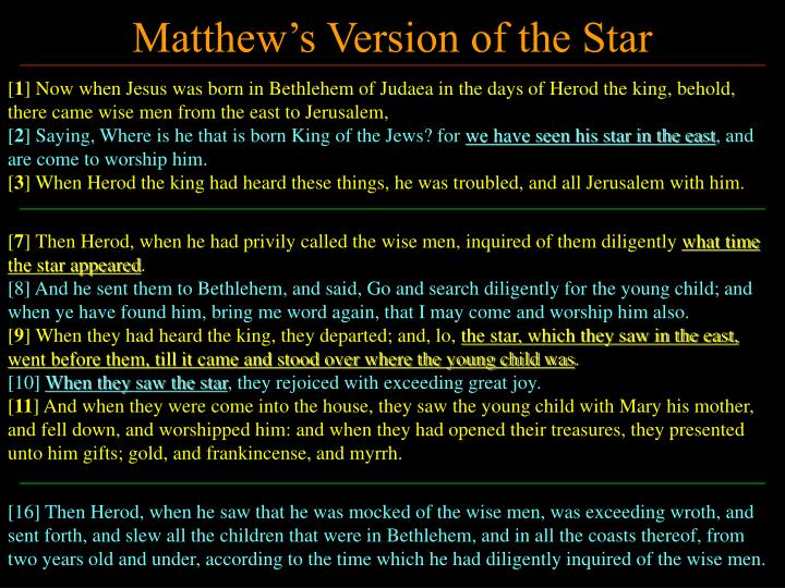 Matthew's Version of the Star