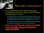 more odd coincidences