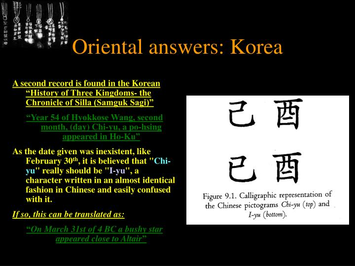 Oriental answers: Korea