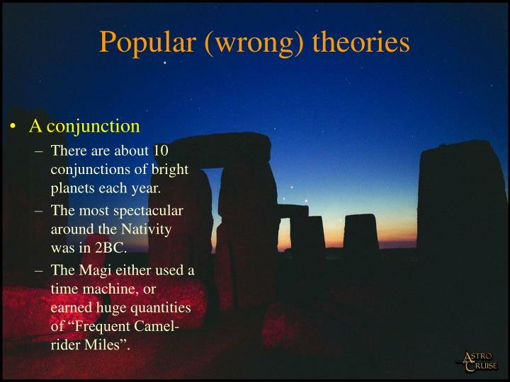 Popular (wrong) theories