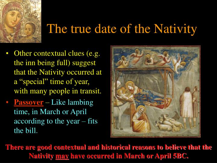 The true date of the Nativity