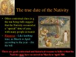 the true date of the nativity