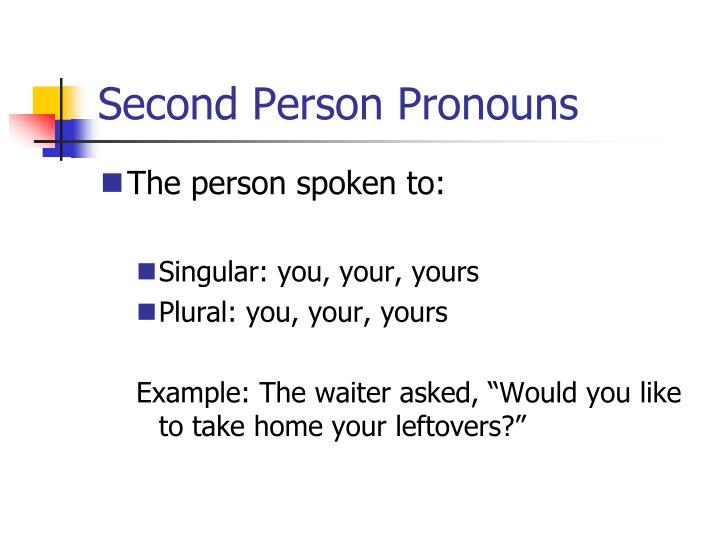 Second Person Pronouns