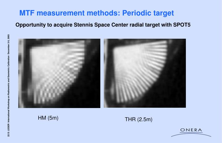 MTF measurement methods: Periodic target