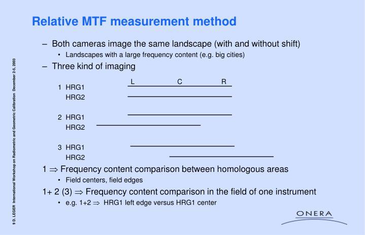 Relative MTF measurement method