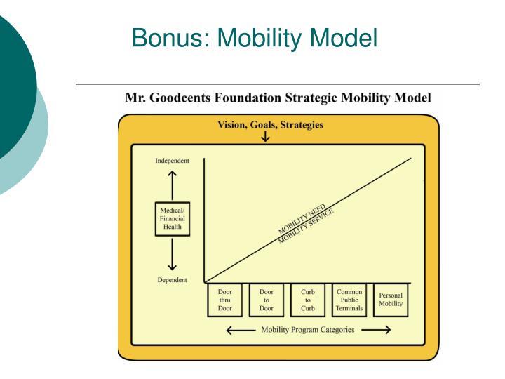 Bonus: Mobility Model
