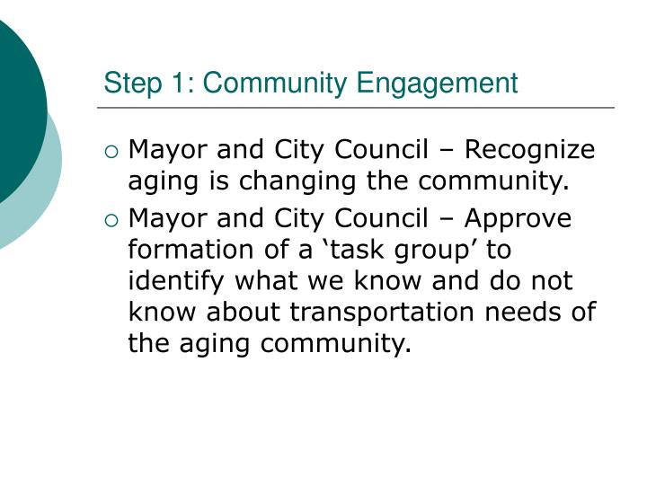Step 1 community engagement