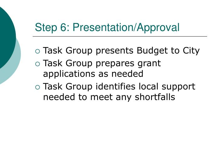 Step 6: Presentation/Approval