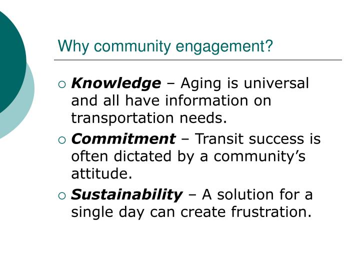 Why community engagement