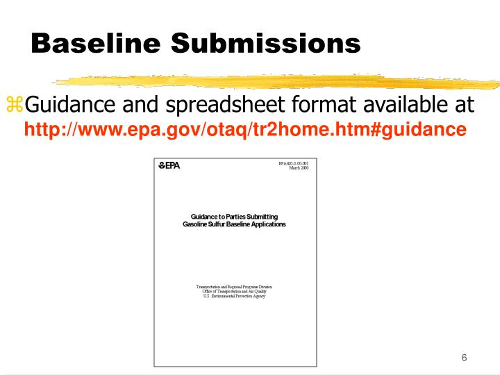 Baseline Submissions