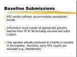 baseline submissions2