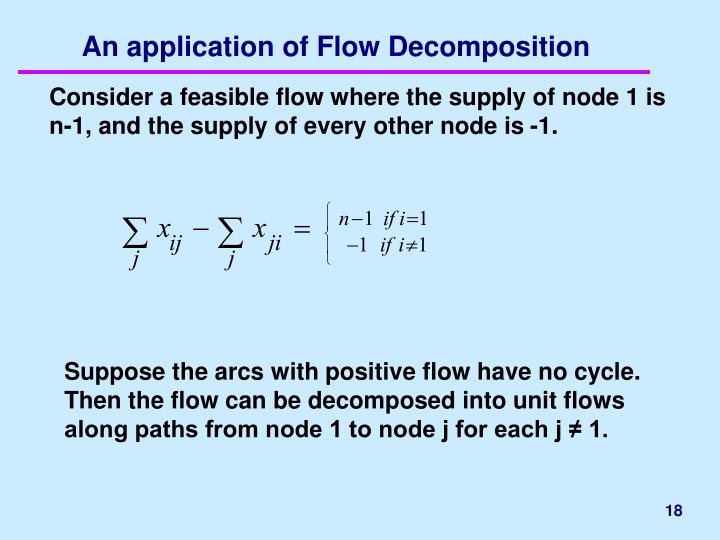 An application of Flow Decomposition