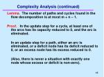 complexity analysis continued