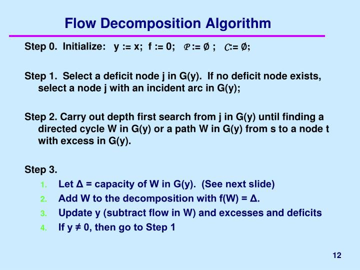 Flow Decomposition Algorithm
