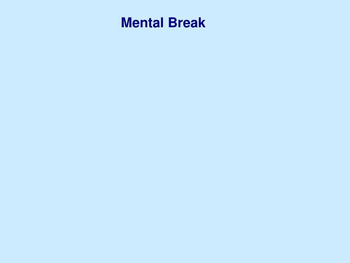 Mental Break