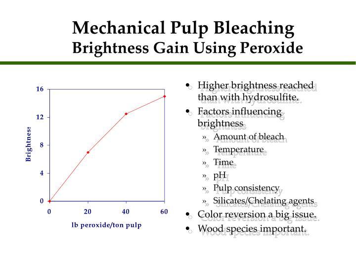 Mechanical Pulp Bleaching