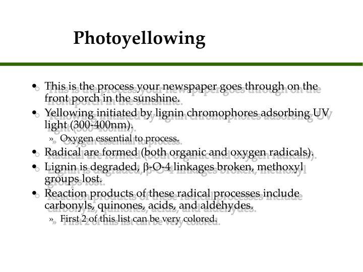 Photoyellowing
