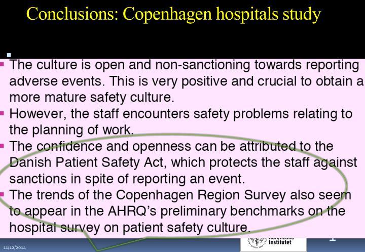 Conclusions: Copenhagen hospitals study