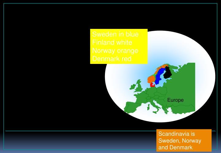 Sweden in blue