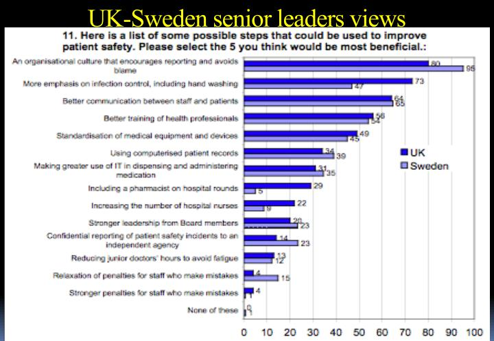 UK-Sweden senior leaders views