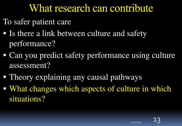 What research can contribute