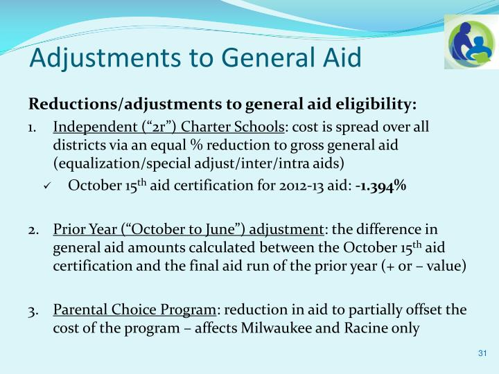 Adjustments to General Aid