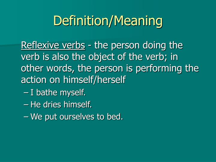 Definition/Meaning