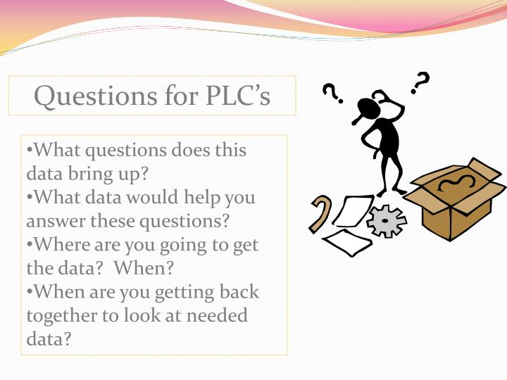 Questions for PLC's
