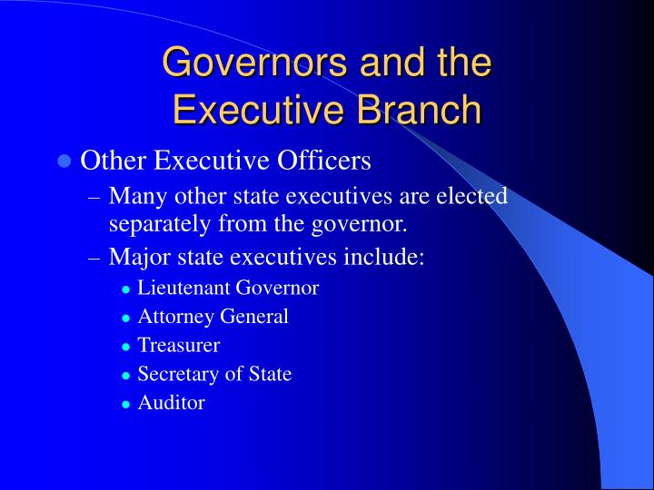 Governors and the