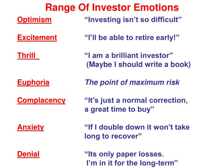 Range Of Investor Emotions